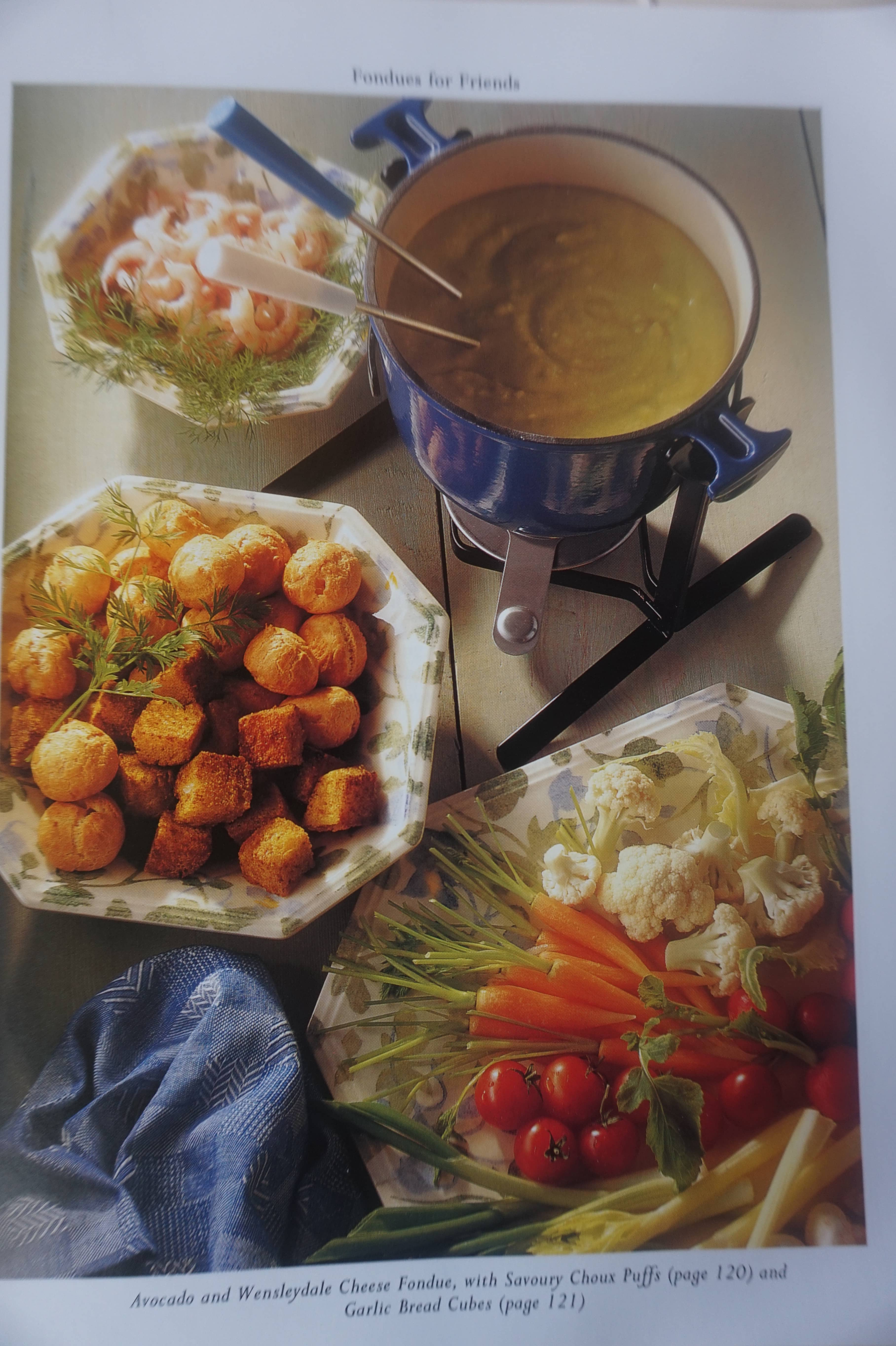 Avocado and Wensleydale Fondue