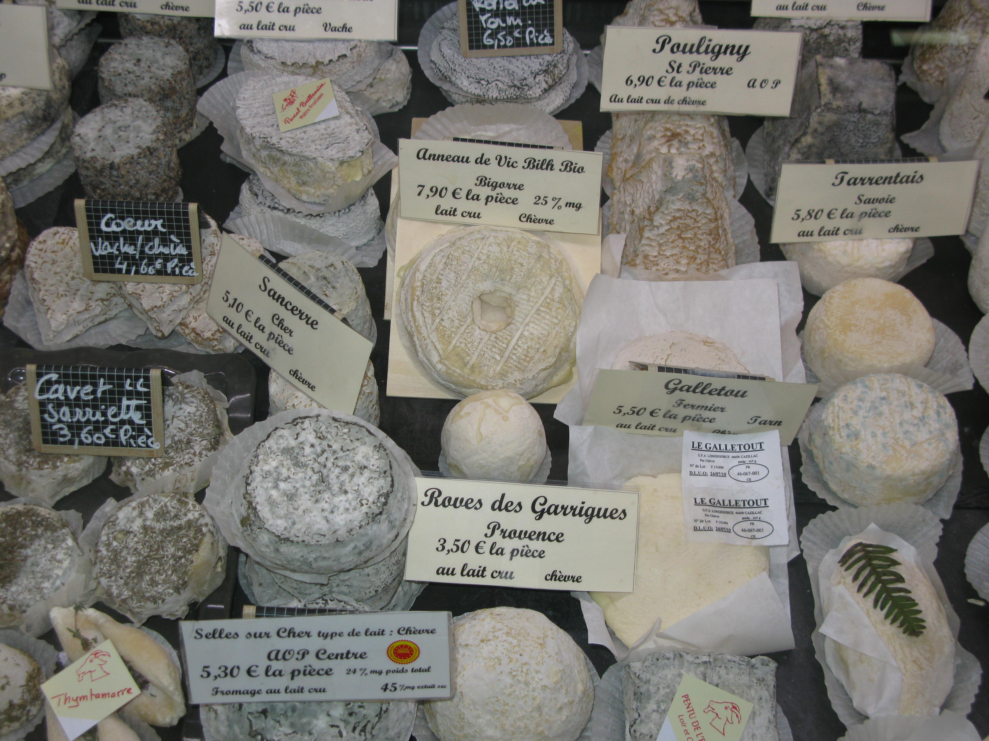 Cheese stall on market day